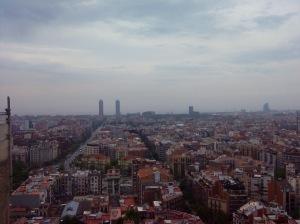 Vista de Barcelona desde el templo de la sagrada familia