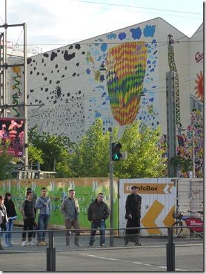 Mural frente a Hauptbahnhof Leipzig