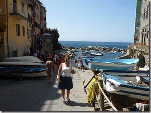Angela en Riomaggiore. Cinque Terre