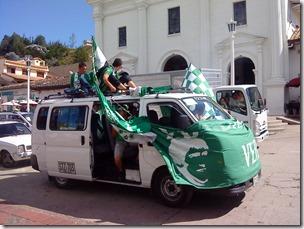 Hinchas del verde listos para irse al estadio